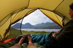 view from the tent door