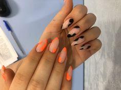 Almond Acrylic Nails, Cute Acrylic Nails, Acrylic Nail Designs, Nail Design Stiletto, Nail Design Glitter, Aycrlic Nails, Hair And Nails, Gorgeous Nails, Pretty Nails