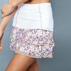 Love! Ultra feminine #tennis skort! Unique design by #DeniseCronwall-In stock now! www.denisecronwall.com