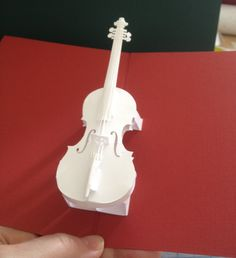 Violin pop-up card (Template from Hiroko ebook)