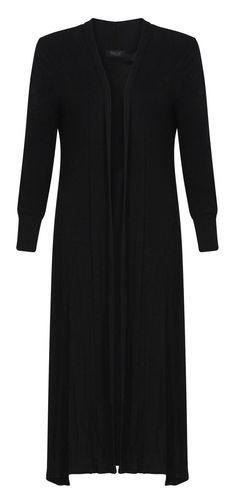 Forever Womens Long Sleeves Plain Boyfriend Long Open Maxi Cardigan