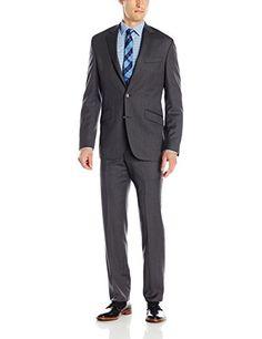 Kenneth Cole New York Men's Herringbone Slim Fit 2 Button Side Vent Suit, Grey, 46 Long Kenneth Cole New York http://www.amazon.com/dp/B00U20XFEG/ref=cm_sw_r_pi_dp_2xhDwb06X0HDT