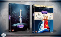 Concept de collection Blu Ray prestige Disney avec fourreau et Digibook : Merlin l'Enchanteur ( The Sword in the Stone ) Merlin, Disney Blu Ray, Animation Disney, Sword In The Stone, The Prestige, Concept, Film, Collection