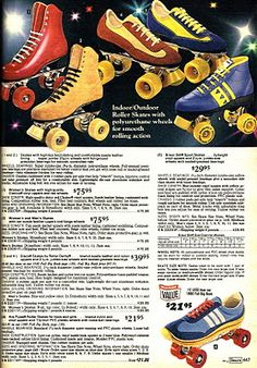 a sears catalog showing your choices if you'd like to buy a pair of roller skates.