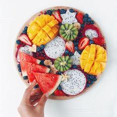 New Fruit Platter Designs Blueberries Ideas Fruit Appetizers, Fruit Snacks, Fruit Smoothies, Fruit Recipes, Acai Smoothie, Fruit Bowls, Fruit Trays, Tumblr Fruit, Tumblr Food
