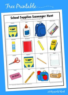 This free printable school supplies scavenger hunt get kids excited about returning to school and keep them engaged while shopping for back to school supplies.