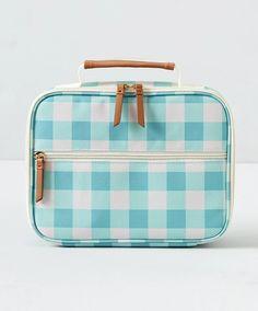 Isolierte Brotdose, Aqua Gingham - Home - Cute Lunch Boxes, Minimalist Kids, Kids Lunch Bags, Insulated Lunch Box, Diy Handbag, Unique Purses, Vintage Purses, Satchel Handbags, Bag Making