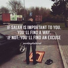So true..you should always make salah your priority..is the most effective way to preserve your relationship with Allah s.w.t..