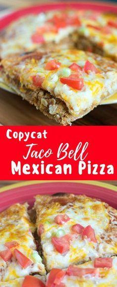 Copy cat Taco Bell Mexican Pizza Recipe / Mexican Pizza / Copycat Taco Bell Recipe