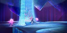 Frozen Concept Art - very pretty bedroom.