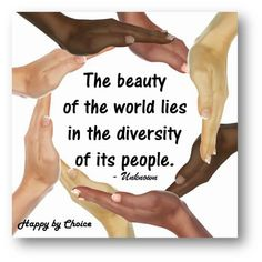 Diversity to me is beautiful and it strengthen our nation to learn about other culture. Diversity is beautiful and as long as you keep an open mind it can be to you as well.