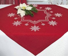 Mesas de Navidad - Decoración navideña original: centros de mesa, manteles, servilletas, velas y más - Mesas de Navidad en DaWanda
