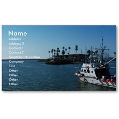 Boat at Oceanside, CA-Business cards  Great business card for seafarers and the like.