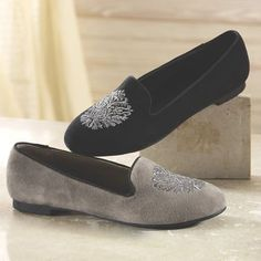 Crystal Shoe from Monroe and Main.  This slip-on shoe looks as comfy as a slipper, but it's made to accompany you out and about.
