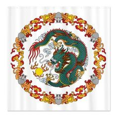 Asian Dragon - Shower Curtain  http://blog.hepcatsmarketing.com/