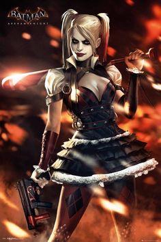 Batman Arkham Knight Harley Quinn Fire Maxi Poster