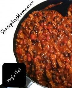 King's Chili Recipe Made In The Crockpot