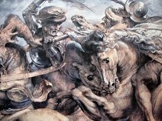 Leonardo da Vinci, Battle of Anghiari, detail.