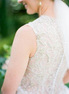 Stunning beaded Alfred Angelo wedding dress: Photography: Emily Katharine Photography - www.emilykatharine.com   Read More on SMP: http://www.stylemepretty.com/2016/08/24/garden-museum-wedding-in-jacksonville/