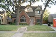 Traditional Exterior Photos Tudor With Pink Brick Design Ideas, Pictures, Remodel, and Decor - page 2