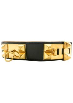 Hermes Collier De Chien Black Leather and Gold-Plated Hardware Belt - 1986 by House of Pre-Loved - Vintage Boutique Vintage Hermes Collier de Chian Black / Medor Leather Belt.This gorgeous belt by Hermes dates back from 1986. One of the most iconic designsby Hermes, if not the most iconic, the Collier de Chien, often referred to asCDC or Medor, was first designed in the early 20th Century as a¡®dog collar¡¯ for a special client¡¯s bulldog. The design was incredibly popular,so Hermes started…