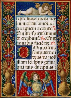 Page from Sforza Book of Hours - Originally produced in Milan, Italy - c. 1490