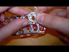 "How to crochet a handbag with soda pop tabs: ""Queta Purse"" part 4 - YouTube"