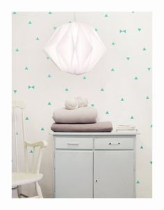 mint triangle wall decals triangles wall stickers by tayostudio
