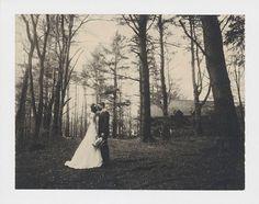 Polaroid wedding portrait