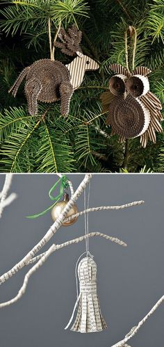 Paper craft christmas ornament