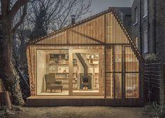 Cedar-clad writer's shed is a fairytale workspace in London