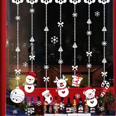 Christmas Snowman Wall Decals DIY Merry Christmas Wall Stickers Decorations Home Shop Store Window Decals Christmas Decorations Christmas Snowman, Simple Christmas, Christmas Diy, Christmas Ornaments, Merry Christmas, Snowman Ornaments, Diy Snowman, Snowflake Ornaments, Glass Ornaments