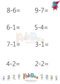 This is a fun image subtraction worksheet for