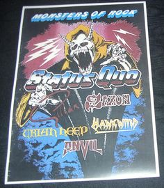 Monsters of rock concert posters | ... Quo-Monsters Of Rock Donington Park UK August 21st 1982 concert poster