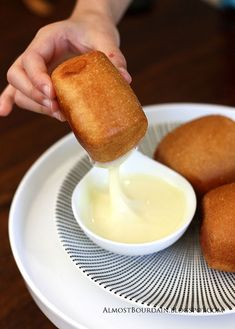 Fried Chinese Buns with Condensed Milk. I used to have this all the time in China! Omg - soooo good.