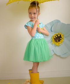 Taylor Joelle Designs Blue & Green Rain Drop Tutu Dress #zulilyfinds