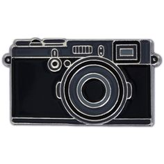 PinMart's Black Camera Photography Lover Enamel Lapel Pin ($7.47) ❤ liked on Polyvore featuring jewelry, brooches, enamel brooches, pin jewelry, pin brooch and enamel jewelry