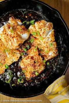 Pan Seared Fish with Tamarind Sauce is a simple and healthy main course recipe that gives you a tasty flaky fish with a spicy crust in a tangy sauce. It is gluten free, low in calories and carbs, high in protein and healthy fats! | Middle Eastern Recipes