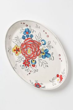 Anthropologie Peony Portrait Platter #anthrofave