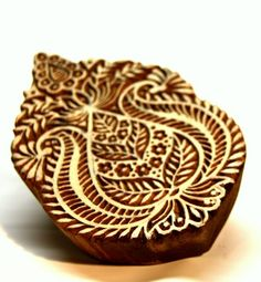 Abstract Indian Textile Printing Wooden BLock Stamp For Arts and Craft | catfluff - Craft Supplies on ArtFire