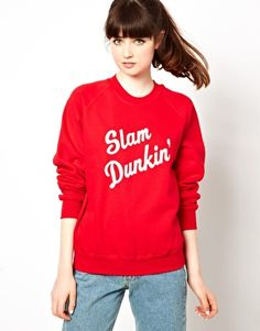 Pop Boutique – Slam Dunkin' – Sweatshirt im Retrolook