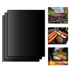 Charcoal Transser BBQ Grill Mesh Mat Set of 5 Electric Barbecue Black Non Stick Barbecue Grill Sheet Liners Teflon Grilling Mats Nonstick Fish Vegetable Smoking Accessories Use on Gas