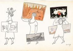 Saul Steinberg  http://www.pinterest.com/henkvanhooff/saul-steinberg-1914-1999/