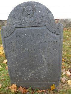 Nutfield Genealogy: Tombstone Tuesday ~ William Ellingwood, died 1766 Beverly, Massachusetts #genealogy