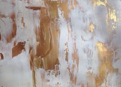 Sold Abstract Painting Gold and White 18x24 by JenniferFlannigan