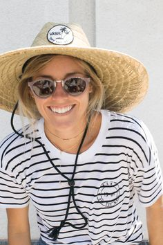 Leila Hurst looking super cute at the Vans surf team's US Open signing.