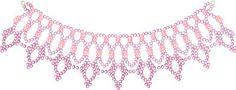 Free Bead Patterns and Ideas : Lace Lanterns Necklace Pattern - Free Pattern