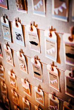 Love the little icons-- could add these to elegant escort cards with modern calligraphy
