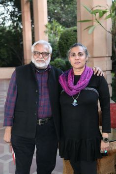 Celebrated #artists Manu Parekh & Sharmila Samant, at Taj Mahal Hotel, New Delhi.