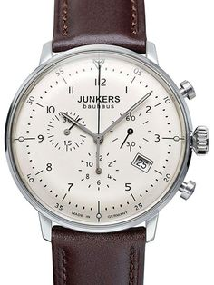 Junkers Bauhaus Quartz Chronograph Watch with Domed Hesalite Crystal #6086-5
